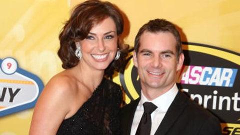 Jeff Gordon and wife Ingrid Vandebosch, 2009