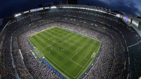 Real Madrid's Santiago Bernabeu