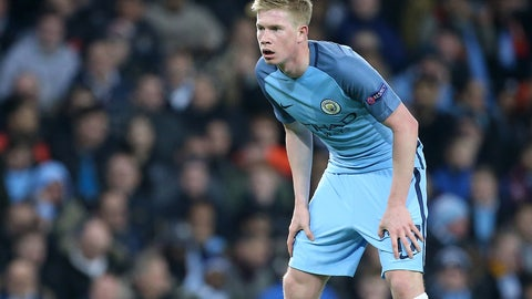 MF: Kevin de Bruyne, Manchester City