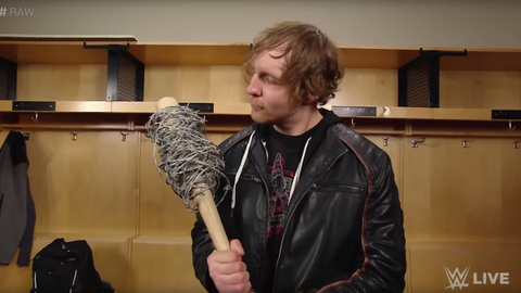 Mick Foley's barbed-wire bat