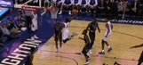 Marcus Foster throws down one-handed alley-oop dunk on inbounds play