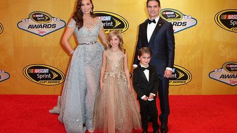 Jeff Gordon and family, 2015