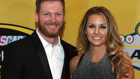Dale Earnhardt Jr. and fiancee Amy Reimann, 2015