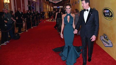 Kyle Busch and wife Samantha as they arrive, 2015
