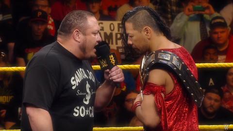 Shinsuke Nakamura vs. Samoa Joe for the NXT Championship