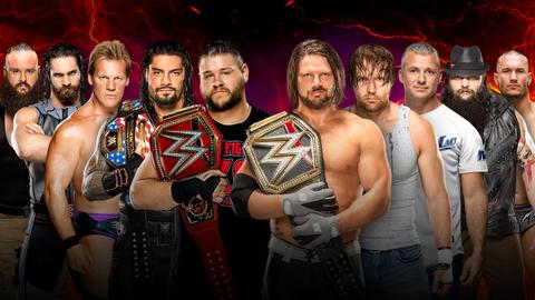 Raw vs. SmackDown men's elimination match