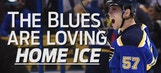 Blues continue dominance on home ice