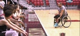 SDSU Basketball gets a pep talk from Orlando Carrillo