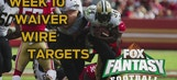 Fantasy: Waiver Wire Targets for Week 10