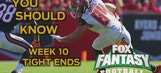Fantasy Week 10: Vernon Davis and Cameron Brate are producing