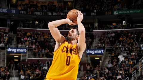 To Cleveland with Rudy Gay, Ben McLemore, Willie Cauley-Stein and Skal Labissiere for Kevin Love, Tristan Thompson, Iman Shumpert and 2019, 2020 first-round draft picks