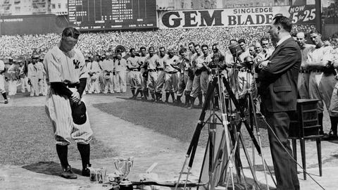 Lou Gehrig Day Appreciation Day, July 4, 1939 (Yankee Stadium)