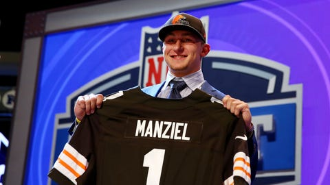 Johnny Manziel had a lot of supporters before he was drafted