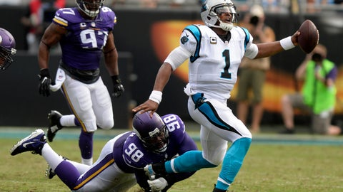 December 10: Minnesota Vikings at Carolina Panthers, 1 p.m. ET