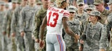 Athletes and their teams honor the armed forces on Veterans Day