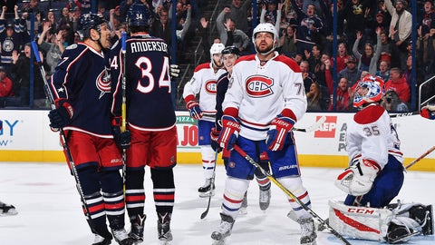 Blue Jackets deliver a historic rout of the Canadiens