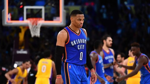Most rage (in a good way): Russell Westbrook