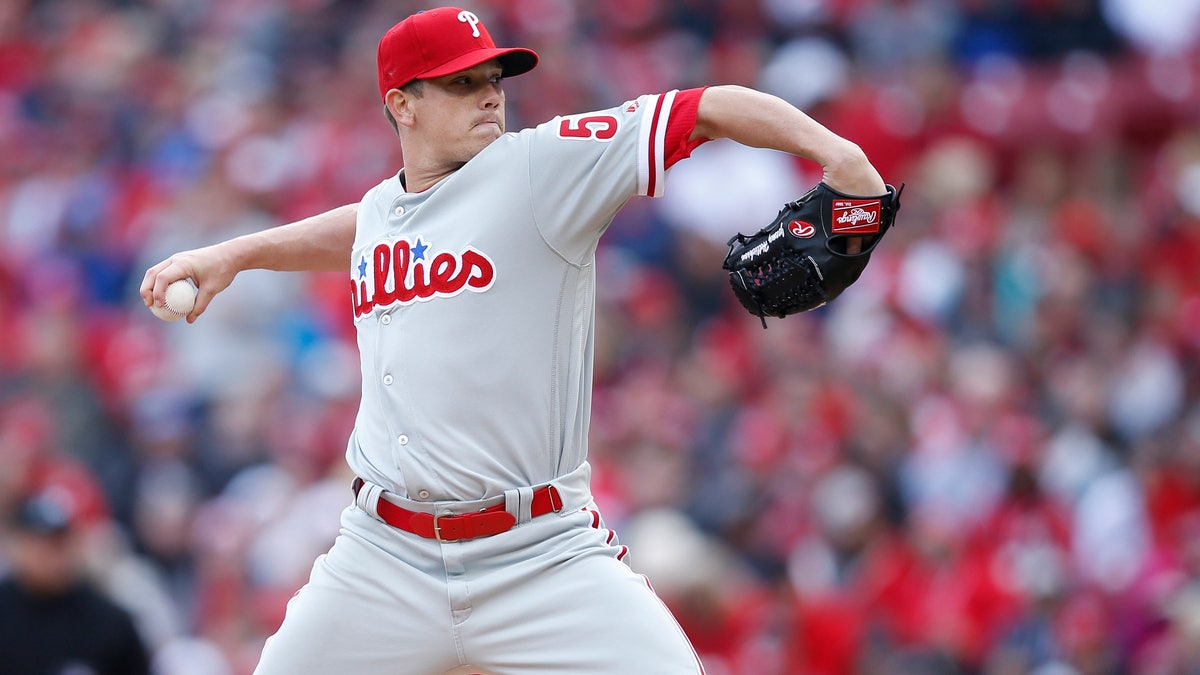Phillies pitcher Jeremy Hellickson had a rough night in Colorado.