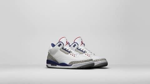 True Blue Air Jordan 3s
