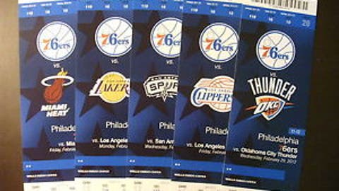 Tickets to attend a game in person