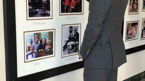 J.R Smith soaking up the history