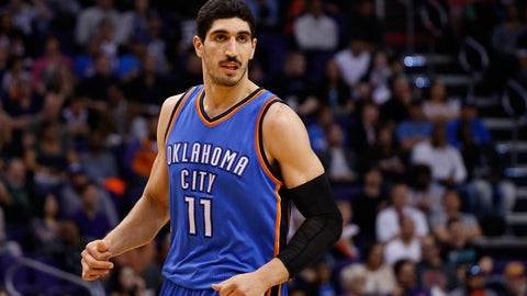 To Oklahoma City for Enes Kanter and all the draft picks the Thunder are legally allowed to trade