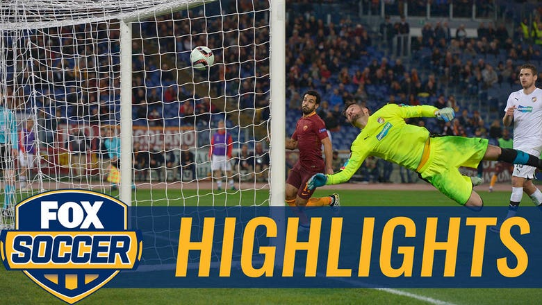 Diego Perotti's crazy rabona chip ends in goal vs. Plzen | 2016-17 UEFA Europa League Highlights