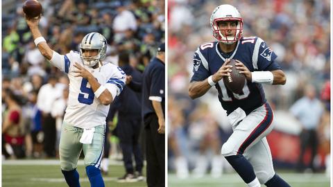 Tony Romo, QB, Dallas Cowboys and QB, Jimmy Garoppolo, New England Patriots: Eastern Illinois