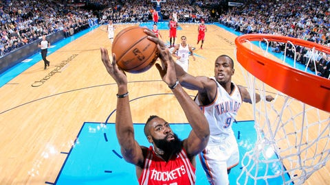 Serge Ibaka gets James Harden