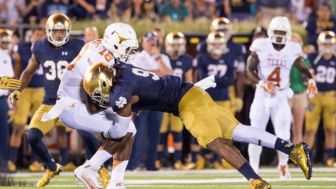 Notre Dame 38, Texas 3   Sept. 5, 2015