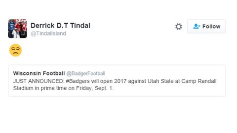 Derrick Tindal, Badgers cornerback