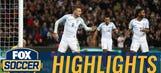 Jamie Vardy scores with diving header against Spain | International Friendly