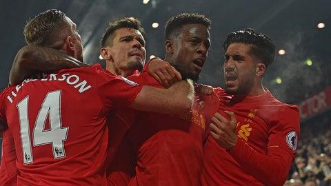 Monday: Liverpool vs. West Ham
