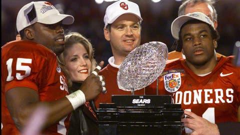 2000 Orange Bowl/BCS title game | Oklahoma 13,  Florida State 2