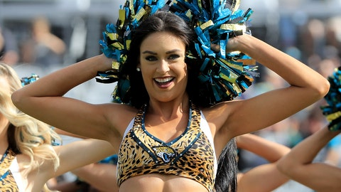 Jaguars cheerleader