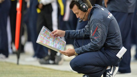 Texans HC Gary Kubiak collapses while walking off the field at halftime (November 2013)