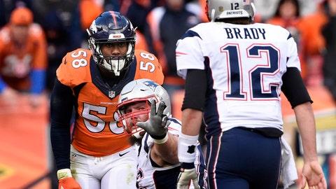 New England Patriots at Denver Broncos, 4:25 p.m. CBS (715)