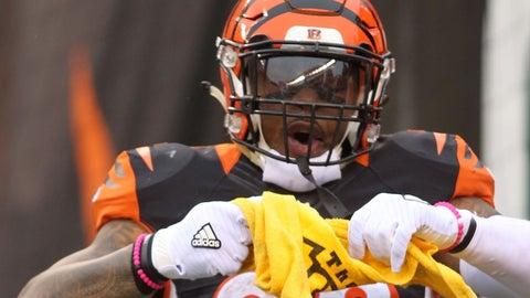Jeremy Hill, RB, Bengals (knee): Questionable