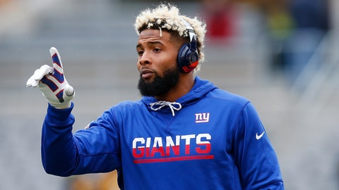 Odell Beckham Jr. at Giants facility day before minicamp