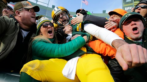 Aaron Rodgers loved his Lambeau leap