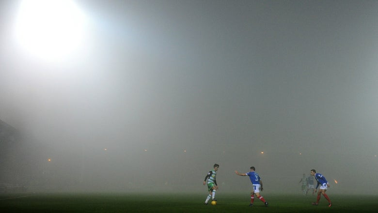 Portsmouth FC's Twitter account attempting to describe a foggy game is incredible