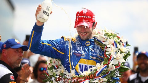 Alexander Rossi wins the Indy 500