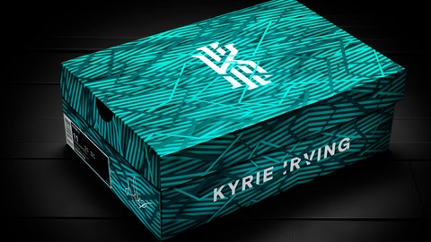 The packaging for the Kyrie 3