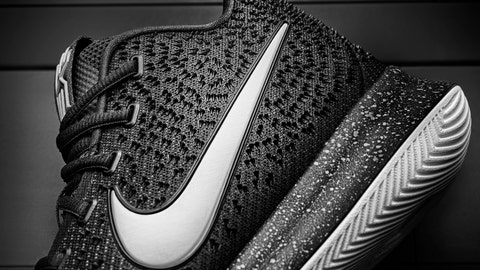 Interesting texture patterns cover the shoe's upper