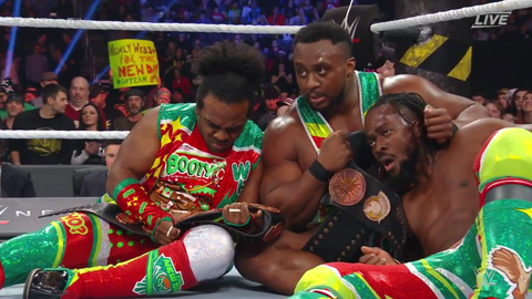 Cesaro and Sheamus defeated The New Day to become the new Raw Tag Team Champions