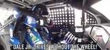 Daryl's NASCAR Presents: Dale Earnhardt Jr. Drives Without Steering Wheel