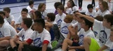 Lightning distribute street hockey gear, training in Ellenton