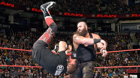 Sami Zayn vs. Braun Strowman in a one-on-one match with a 10-minute time limit