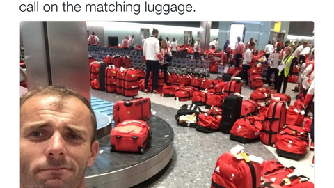 Team GB discovers that the matching Olympic luggage was a huge mistake