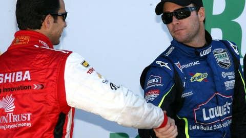 Two auto-racing giants